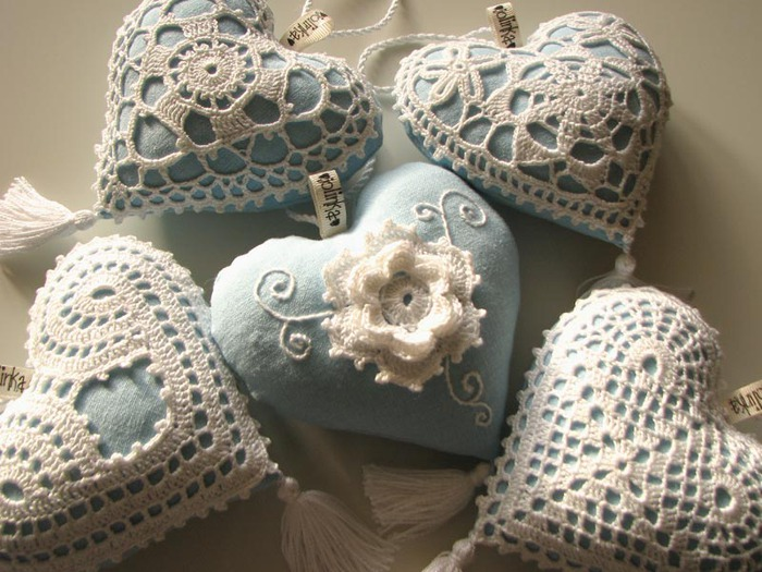 special valentine gifts: hearts!!! more patterns