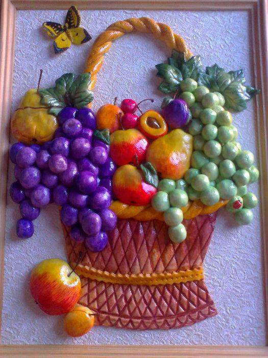 Как сделать фрукты в соленого теста