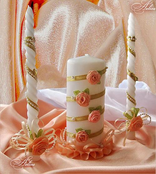 Своими руками украсить свечи на свадьбу