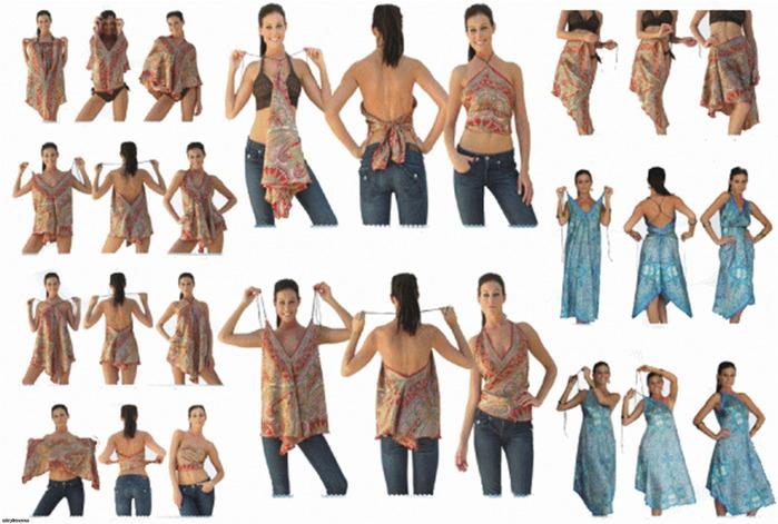 Как сшить платье из двух платков своими руками фото 4