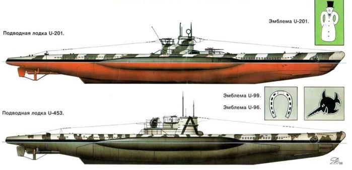 Подводная война камуфляж и эмблемы