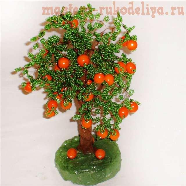 Апельсин - бисер (640x640