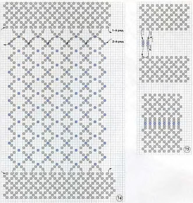 Как вязать чехол для телефона крючком из бисера по схеме