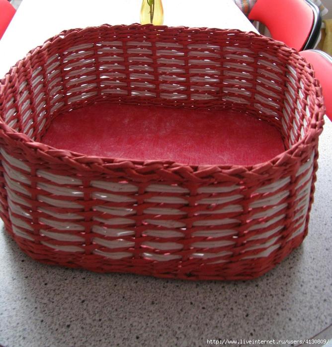 Плетение из газеты для кухни