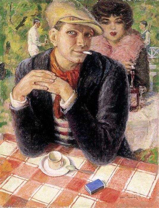 M. Tímár, István (1937 - ) «Pub Scene» (535x700, 424Kb)