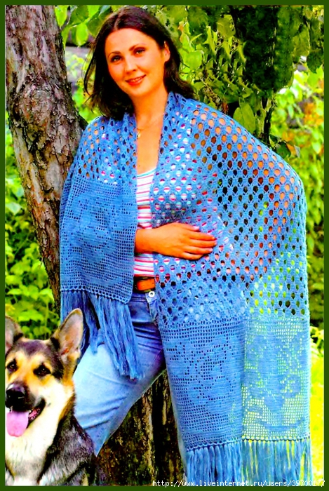 Журнал - Вязание модно и просто.  Вязать по схеме, на...  Вязаные шали и вязаные палантины спицами...