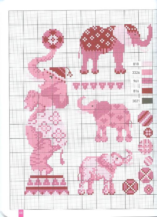 Схемы для вышивки розовые