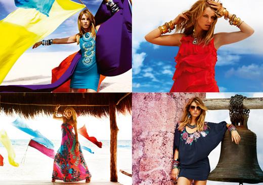 В сезоне весна-лето 2010 доминирующий в Monsoon стиль бохо отразился в яркой, женственной коллекции, которая
