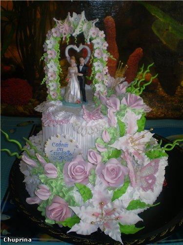 Свадебные торты с мастики-рецепт