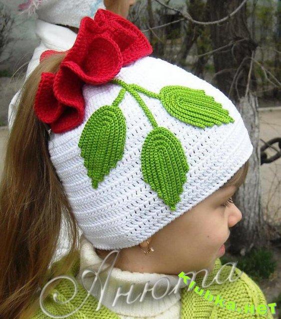 Схема вязания детской шапочки.