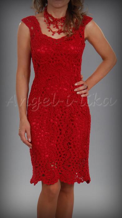 Красное платье (392x700,