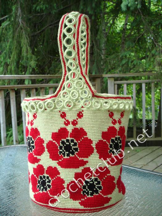 Жаккардовым вязанием крючком можно выполнять отличные красивые сумки с уникальными узорами, различные предметы декора...