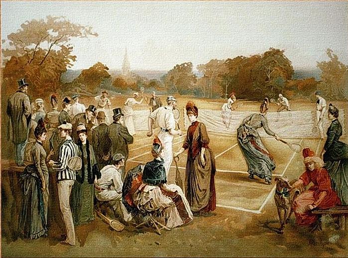 Louis Prang  Lawn Tennis, 1887 (700x518, 358Kb)
