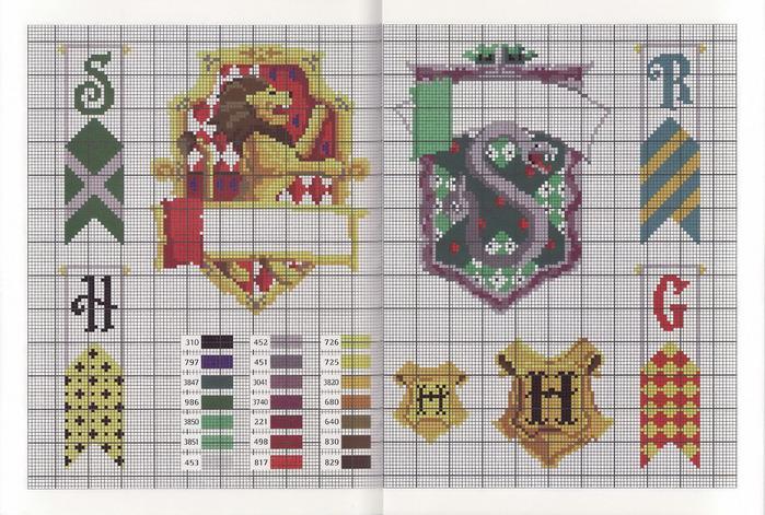 Вышивка крестиком схемы гарри поттер и