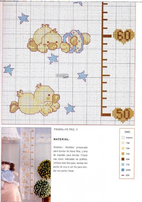 Ростомер Малышка - цветная схема для вышивки крестиком.