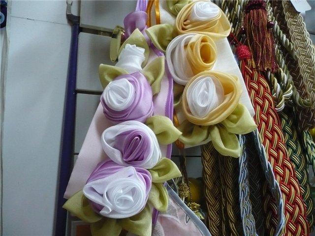 Сделать розы для штор своими руками