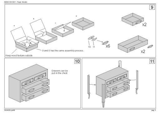 Как сделать комод для кукол из бумаги
