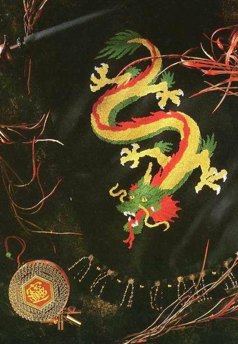Схемы вышивки крестом.  Подобрала несколько схем вышивки драконов и дракончиков.  Можно использовать их для...