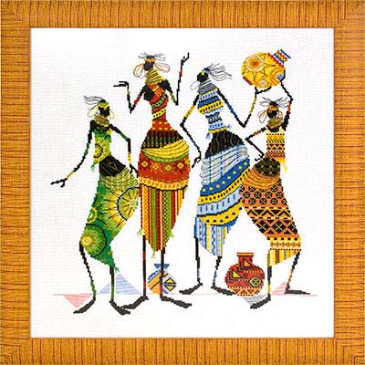 НМ-739 «Африканочки-подружки» (400x400, 106Kb)
