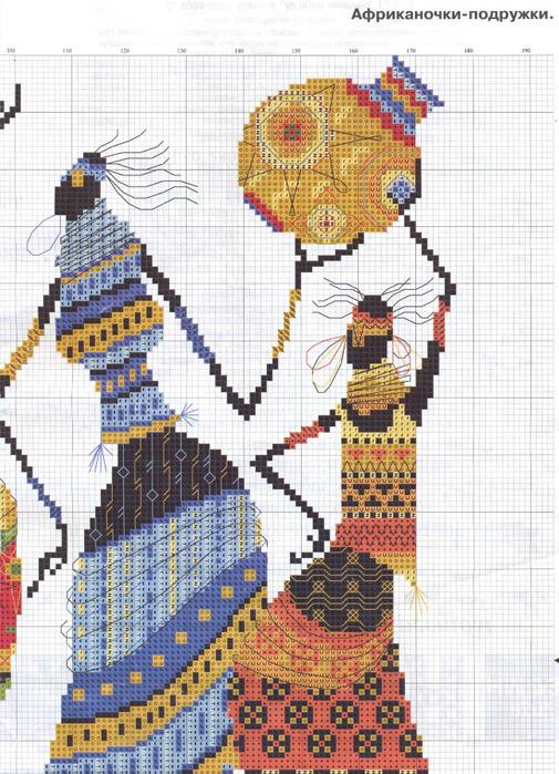 Вышивка схемы африканская 28