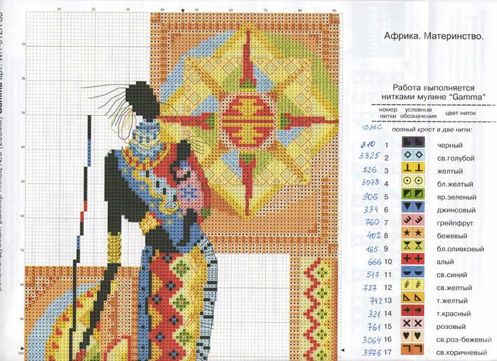 Вышивка схемы африканская