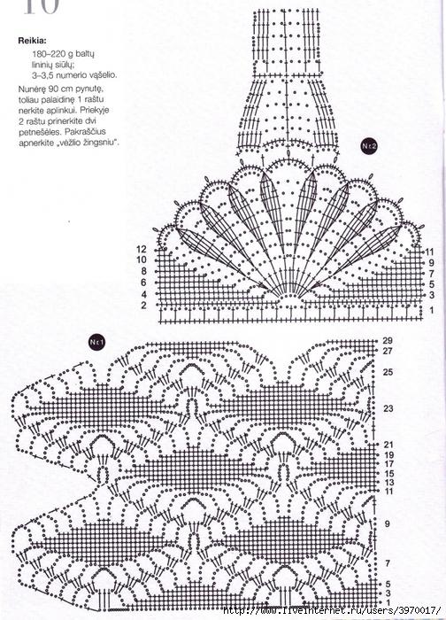 Вязание ромбов крючком схема