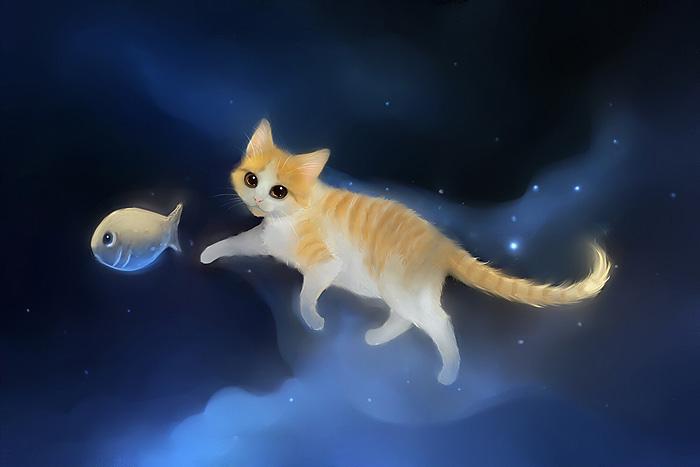 обои на рабочий стол космос коты № 2288043 загрузить