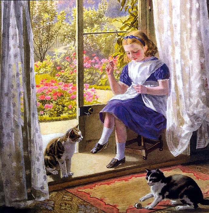 Helena J. MAGUIRE (1860-1909).-ASummerAfternoon (689x700, 288Kb)