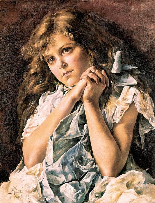 Federico Godoy y Castro .Girl Praying 1890 (533x700, 450Kb)