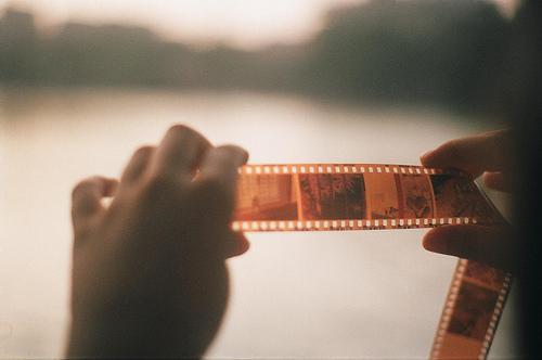 фиолетовый оттенок на пленочных фотографиях