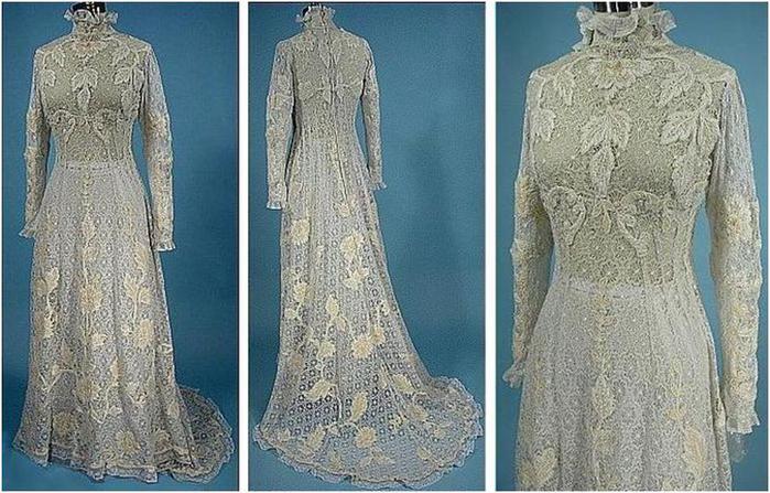 Старинные свадебные платья 39 фото