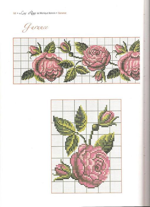 Вышивка крестом винтажная роза 32