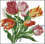 1. Цветочные схемы для вышивки крестиком или бисером, можно также использовать в вязании.