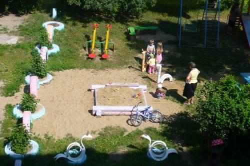 Площадка в детском саду своими руками из дерева