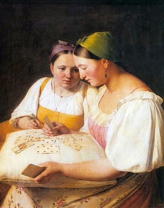 Alexey Venetsianov (1780-1847), Fortune Telling. (554x700, 302Kb)