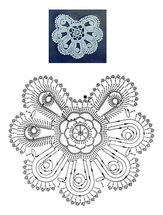 Схемы цветочных кружев