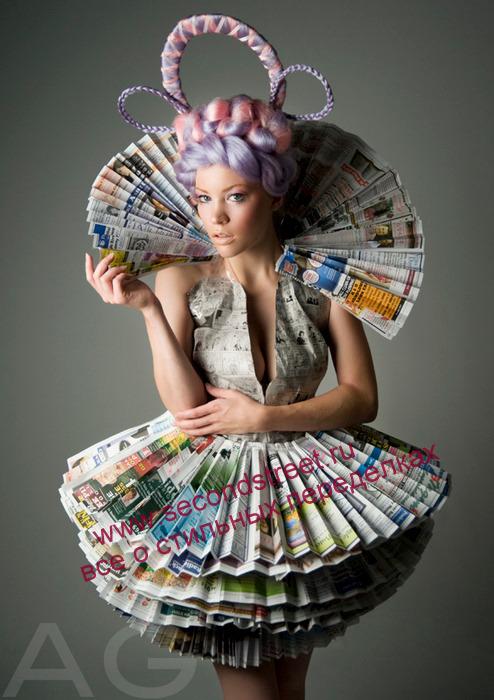 Платье своими руками из подручных материалов на конкурс