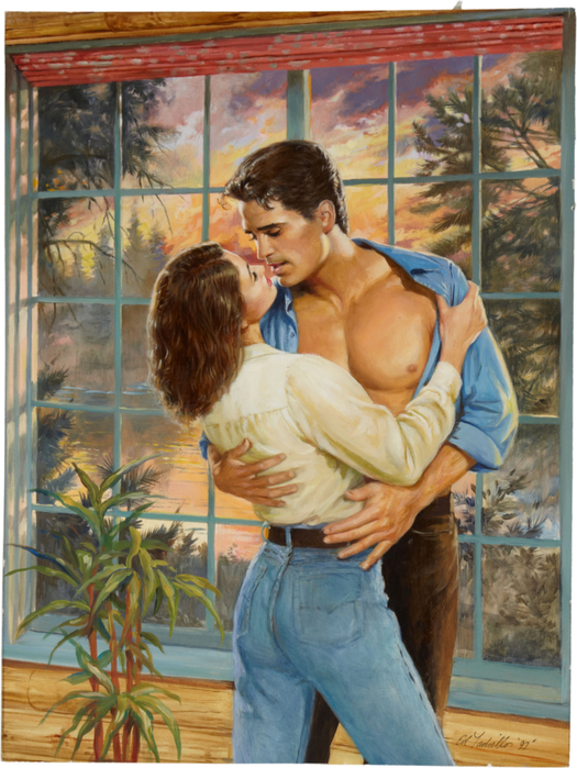 Ed Tadiello Romance Illustration Original Art (1997) (525x700, 486Kb)