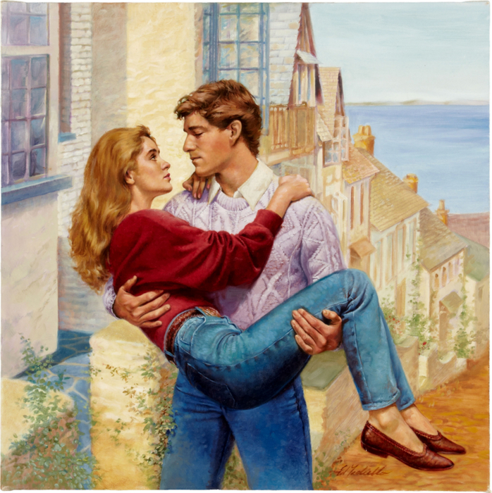 Ed Tadiello Romance Paperback Cover Original Art (undated) (698x700, 591Kb)