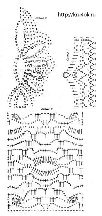 Вязания крючком схемы из ириса 59