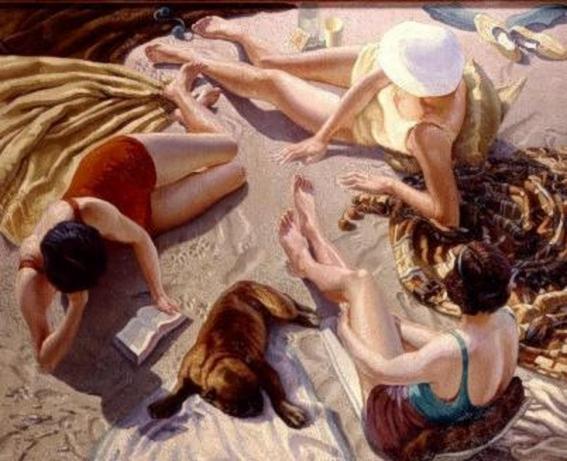 Clifford Hanney .A Beach Scene (567x461, 203Kb)