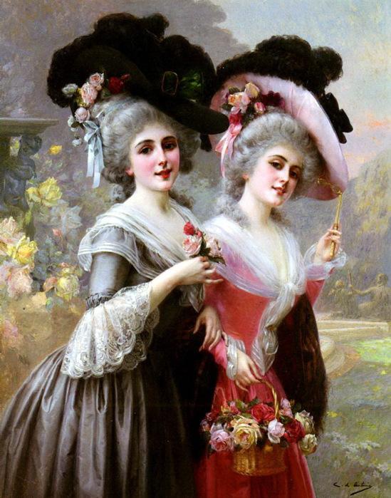 """Оригинал схемы вышивки  """"Antonio Cristobal de The Basket Of Roses """" ."""