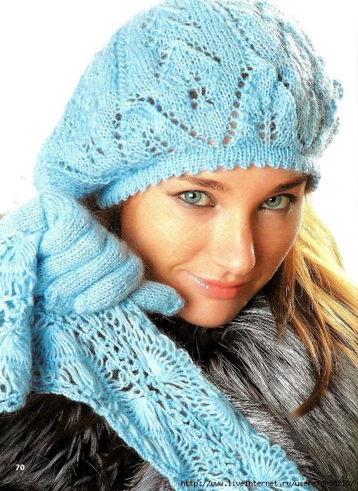 Шапки, шарфы, аксессуары-070 (509x700, 384Kb)