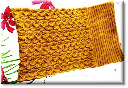 шарф снуд спицами.