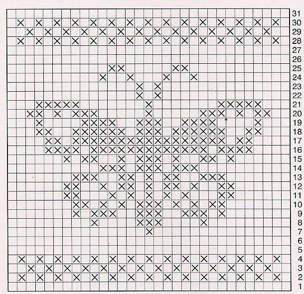 Узоры для вязания крючком бабочка 170