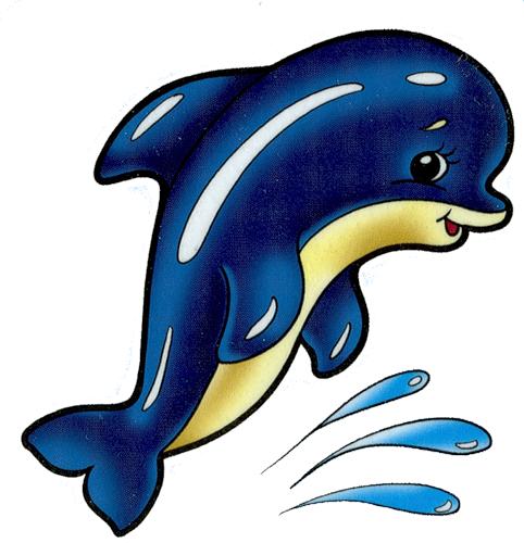 """Схема вышивки  """"Дельфин в детскую """": таблица цветов."""