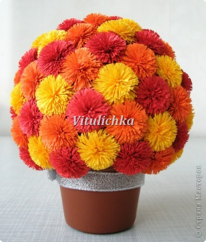 Фото цветы из гофрированной бумаги мк