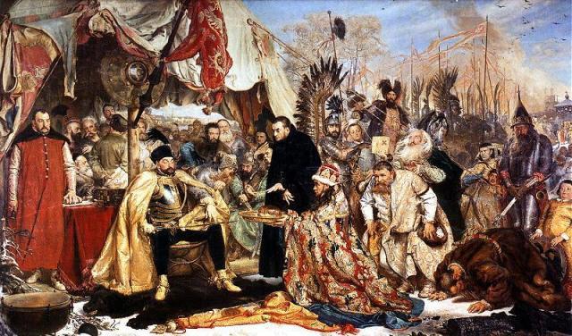 Ян Матейко. Стефан Баторий под Псковом. (1872) (640x376, 78Kb)