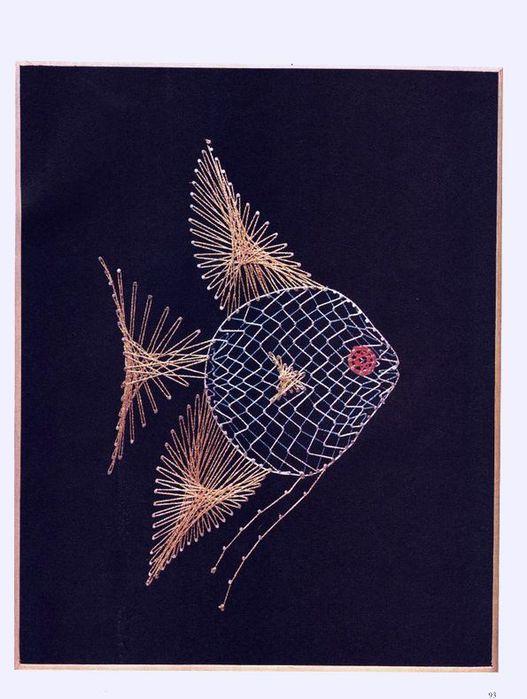 Это схема рыбы, выполненной в
