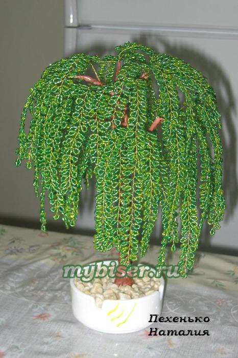 схемы плетения бисером деревья.